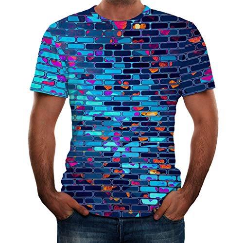 CAOQAO 3D Impresin Camisetas Hombre Manga Corta Blusa Ropa Hombre