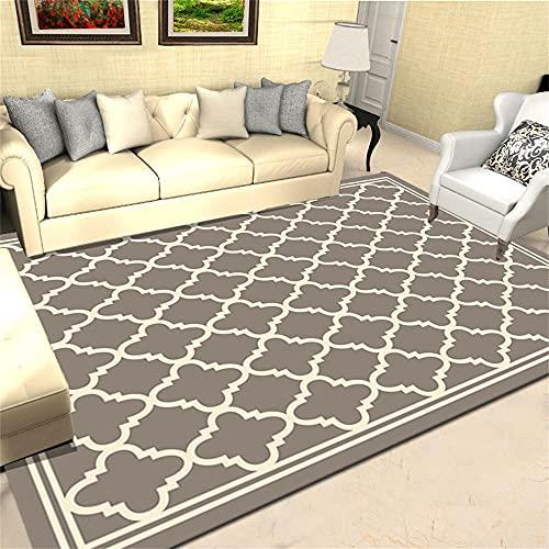 IKEA Mesa Comedor Alfombras Dormitorio Diseño de geometría Moderna Blanca de arroz Gris Alfombras De Pelo Largo Baratas 80X200cm