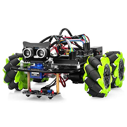OSOYOO Mecanum Wheels Robot Car Kit for Arduino Mega2560|Omni Wheels Robotic | STEM Remote Controlled Educational | Mechanical DIY Coding for Kids Teens Adults