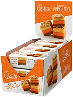 The Original Cakebites by Cookies United, Grab-and-Go Bite-Sized Snack, Harvest Pumpkin Spice, 12 Packs of 3 Cookies