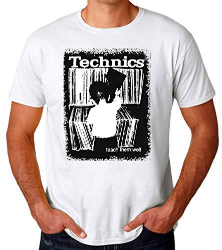 Technics Turntable Teach Them Well Vinyl Records Männer T-Shirt XX-Large