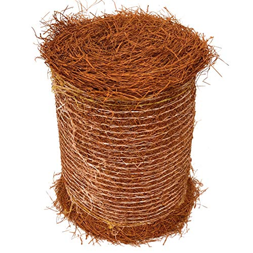 Longleaf Pine Straw Roll for Landscaping - Brown Color UV Resistant - Covers Up to 125 Square Feet