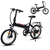 Aceshin 20' Folding Electric Bike with 36V 250W Removable Large...