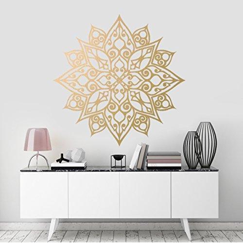 Mandala-Blume Wandkunst-Aufkleber, Zimmerdekoration Ornament, abnehmbares Vinyl-Abziehbild