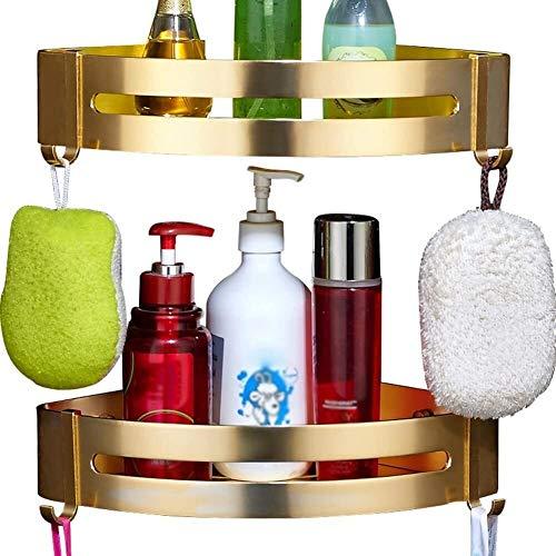 AINIYF Baño Plataforma de baño Ducha Organizador de Pared de Aluminio del Espacio Triángulo Cesta Corte Libre Pegamento Enganche de Drenaje (Color: Triángulo, Tamaño: Capa 1)