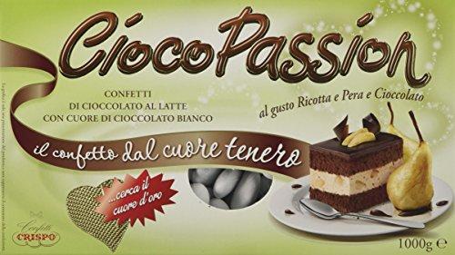Crispo Confetti Cioco Passion Ricotta, Pera e Cioccolato - Colore Bianco - 3 confezioni da 1 kg [3 kg]