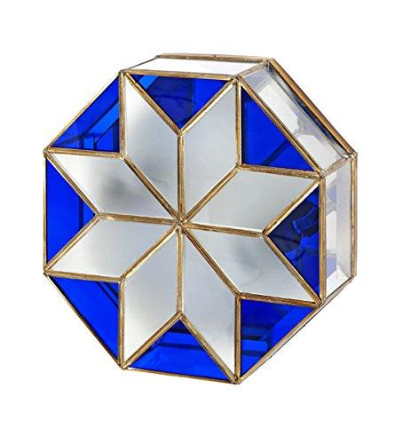 Plafon-Aplique Artesanal Granadino : Modelo AL-ANDALUS 607 de 35x14cms.
