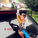 Edumarket241 25/35/45CM Lovely Toy Story Sherif Woody Car Doll Plush Toys Outside Hang Toy Cute Auto Accessories Sell Car Decoration Toy-A Set Car Sticker