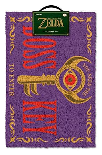 The Legend of Zelda Felpudo La Leyenda de Zelda Boss Key, Fibra de Coco, Multicolor, 40 x 60 cm