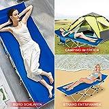 DRMOIS Camping Betten Feldbetten Klappbar, max Statische Belastbarkeit 260 kg Campingliege für Outdoor Camping Reisen Home Lounging Verwenden - Königsblau - 4