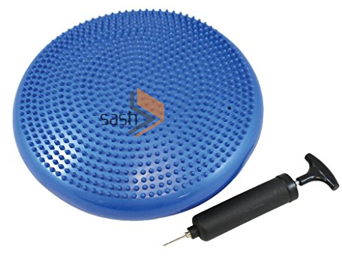 Blau Stabilität Disc, schwenkbare, Knie, Knöchel, Yogamatte, verbessert die Haltung, Training Core Anti-Rutsch-Oberfläche, Unterstützt die Muskeln, bequem, fördert das aktive