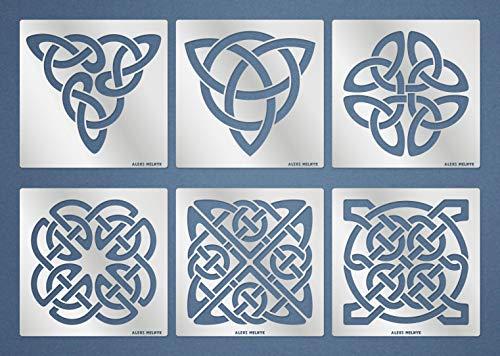 Aleks Melnyk Stencil - Sacred Geometry, Celtic Knot (Conjunto Nudo celta # 2)