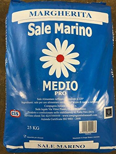Margherita Sale Marino Mittelmeersalz 25 kg - Medio 1.0 - 1,6 mm