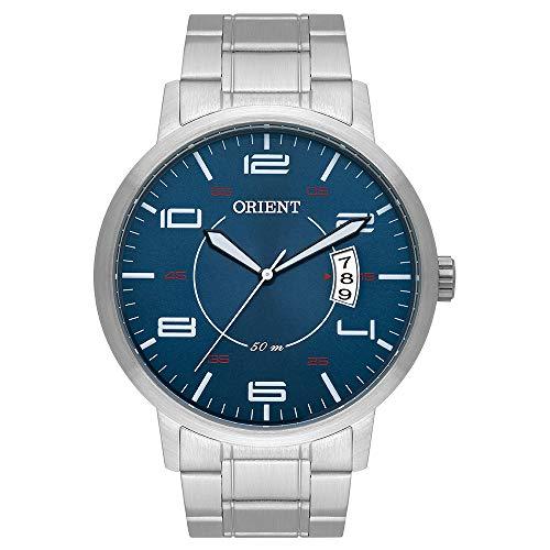 Relogio Orient Masculino Azul Eternal Analogico Prata MBSS1381 D2SX