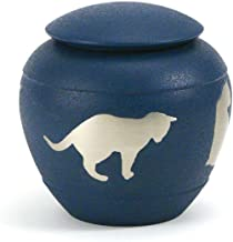 Near & Dear Pet Memorials Silhouette Cat Urn, Country Blue