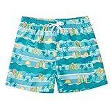 ALISISTER Bañador Niño Novedad 3D Palmera Gráfico Natación Shorts 8-10 años Elastic Waistband Vacation Beach Boardshorts con Forro de Malla