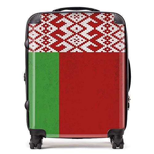 Vlag België / biéloorusse vlag Sovjet-Unie Koffer met TSA Lock 4 draaibare wielen grote bagage uittrekbaar 78 cm 95 ltr