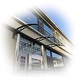 Auvent de terrasse - Auvent de toit - Abri de pluie avec support noir - Protection...