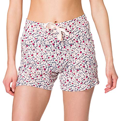 Schiesser Damen Mix + Relax Jerseyhose kurz Pyjamaunterteil, Multicolor 1, 38