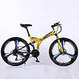 ASPZQ Bicicletas De Ciclismo, Cómoda Bicicleta De Montaña Plegable Ligera Potable Portátil Portátil para Hombres - Estudiantes Y Viajeros Urbanos,D,26 Inch 21 Speed