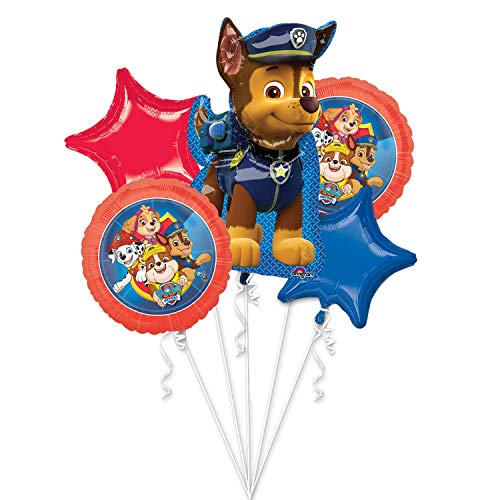 amscan 3911001 Paw Foil Ballon Boeket - 3 stuks, Boeket:Paw Patrol 2018, klein