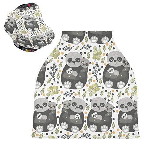 Sinestour Nature Animal - Fundas para asiento de coche para bebé, bufanda, carrito de la compra, toldo multiusos para bebés y madres lactantes