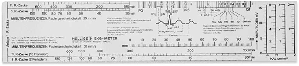 MedicalEKG Ruler for Learning Rhythms & no Unnecessary info- Works for 99% of The Strips That You Need to Evaluate in This Area