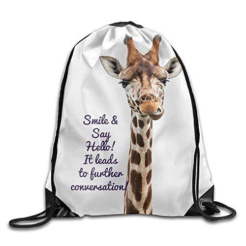 RFVBG Virvelių kuprinė žirafa Spausdinti kuprinės pečių krepšiai gimnastikos krepšys