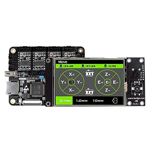 TONGDAUR Carte mère intégrée avec écran Tactile LCD 3,5 Pouces 32 Bits Coretx-M4 Core Control Unit 4 PCS DRV8825 Driver Moteur Pas à Pas pour imprimante 3D Reprap