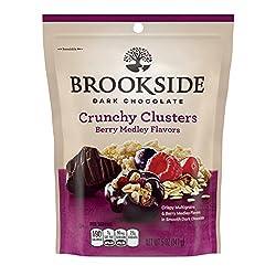 BROOKSIDE Dark Chocolate Clusters, 5oz, Berry Medley