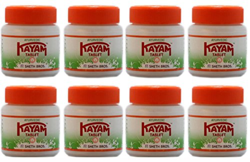 Pack of 8 - Ayurvedic Kayam Tablet - 30 Tablets(Ship from India)