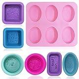 FineGood 13 pezzi stampi ovali in silicone per la fabbricazione di sapone, stampi per sapone in silicone stampi per candele muffin per muffin per cupcake muffa per fai da te fatti in casa