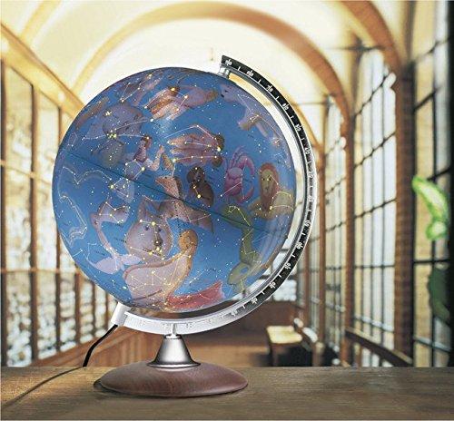 Räthglobus HL 3013: Himmelsglobus 30 cm, Echtholzfuß, beleuchtet mit Sternbildern