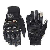 L, red IRON JIAS Guanti Moto Off Road professionali che corrono i guanti da moto guanti goccia resistenza touch screen Guanti guantes luvas