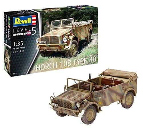 """Revell 03271 14 Modellbausatz Horch 108 Type 40"""" im Maßstab 1:35, Level 5"""