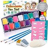 Juego de maquillaje profesional para niños, 42 piezas, pintura de maquillaje soluble en agua, esponjas de regalo de Tritart