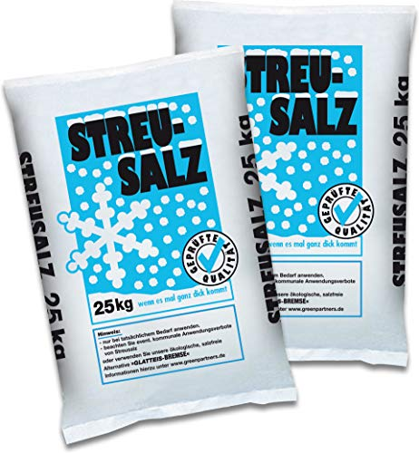 Streusalz 2 x 25 kg Deutsche Salinen Qualität Auftausalz TOP Qualität Winter Salz