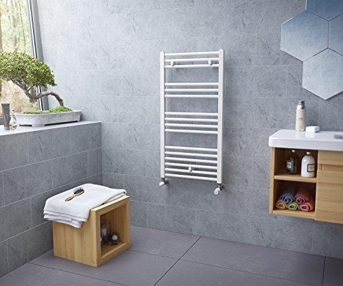 Ximax Pra 700194 - Radiador de toallas (880 x 450 mm, 450 W), color blanco