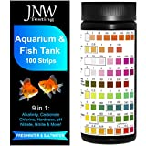 JNW Direct Aquarium Test Strips for Fish Tank 9 in 1, 100 Strip Pack, Test Hardness, Carbonate, Nitrate, Nitrite, pH & More, Accurate Freshwater and Saltwater Aquarium Water Testing