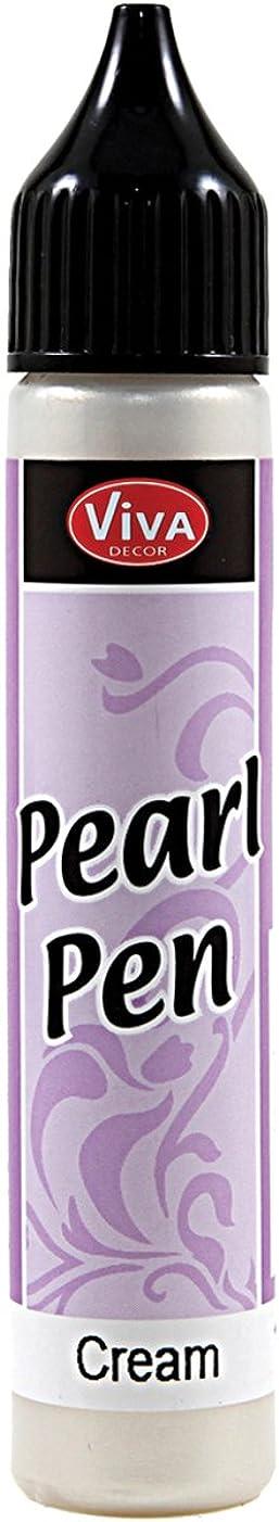 Viva Decor .8-Ounce Pearl Color Pen, Cream