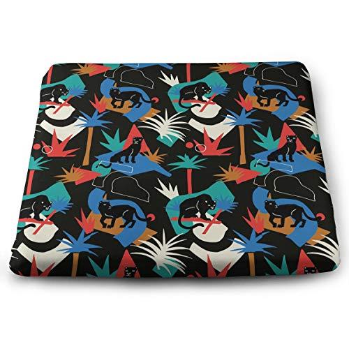 Memory Foam Pad zitkussen. Autostoel kussens om hoogte te verhogen - bureaustoel comfortabel kussen - zwarte panter in de jungle wilde dieren