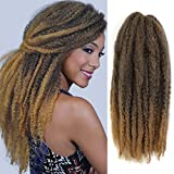 Ameli 6 Packs Marley Braiding Hair for Twists Synthetic Fiber Hair Afro Kinky Hair Marley Braid Hair Extensions (18inch, T27)