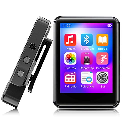 MP3Player, MP3 Player with Bluetooth, 32GB Portable Music Player with FM Radio/Recorder, HiFi...