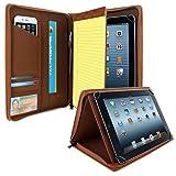 KHOMO Universal-Schutzhülle für Tablets mit 21,6 cm (8,5 Zoll) bis 27,9 cm (11 Zoll) – Braun – kompatibel mit iPad Air, Pro 11 & vielen Anderen