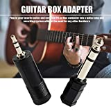 Adaptador de guitarra eléctrica negra a interfaz USB Cable para PC Recordin para bajo de guitarras eléctricas - Negro