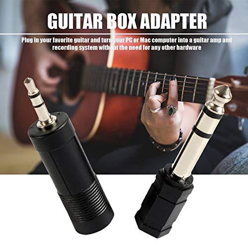 Adaptador de guitarra eléctrica negra a interfaz USB Cable para PC Recordin...