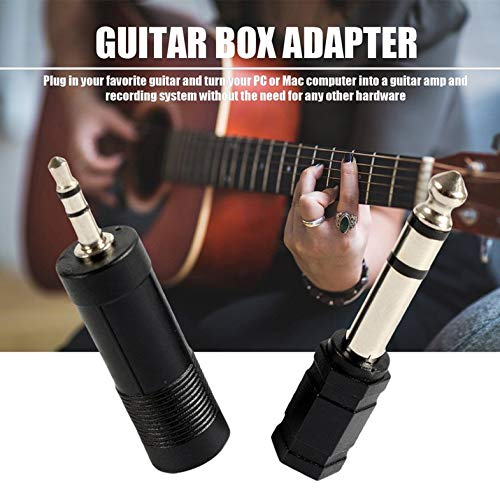 Adaptador de guitarra eléctrica negra a interfaz USB Cable para PC Recordin...