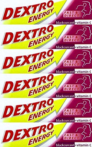 Dextro Energy Glucose Tablets Blackcurrant 47g x 6 Packs