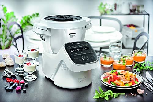 Moulinex HF80CB Companion XL, Robot da Cucina Multifunzione, 12 Programmi Automatici, 6 Accessori Dedicati, Capacità di 3L,1500 W, Bianco/Nero