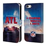 Officiel NFL Stade De Mercedes-Benz Atlanta 2019 Super Bowl LIII Coque en Cuir à Portefeuille Compatible avec iPhone 5 iPhone 5s iPhone Se